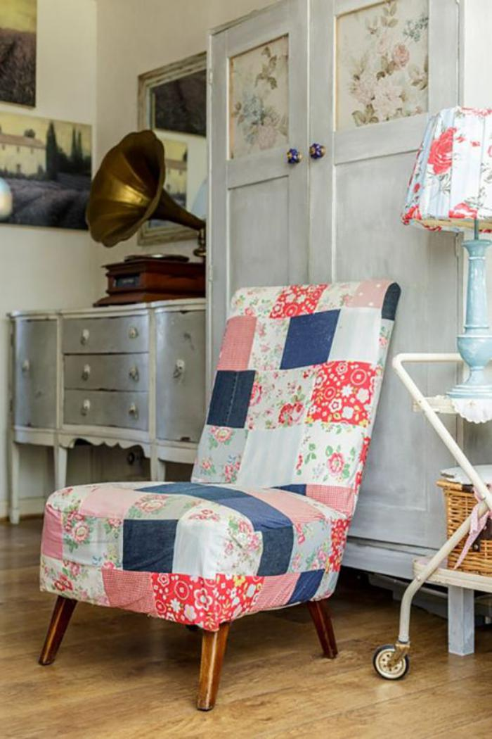 fauteuil-patchwork-personnalisation-de-l'intérieur