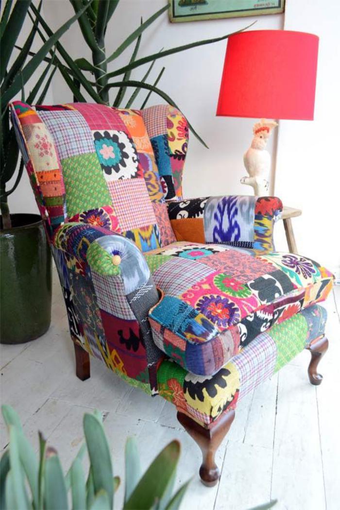 fauteuil-patchwork-fauteuil-déco-multicolore