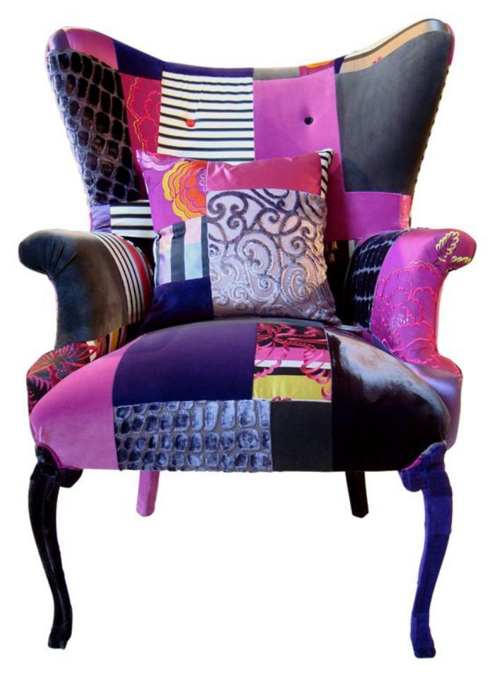 fauteuil-patchwork-pourpre-mobilier-déco-original