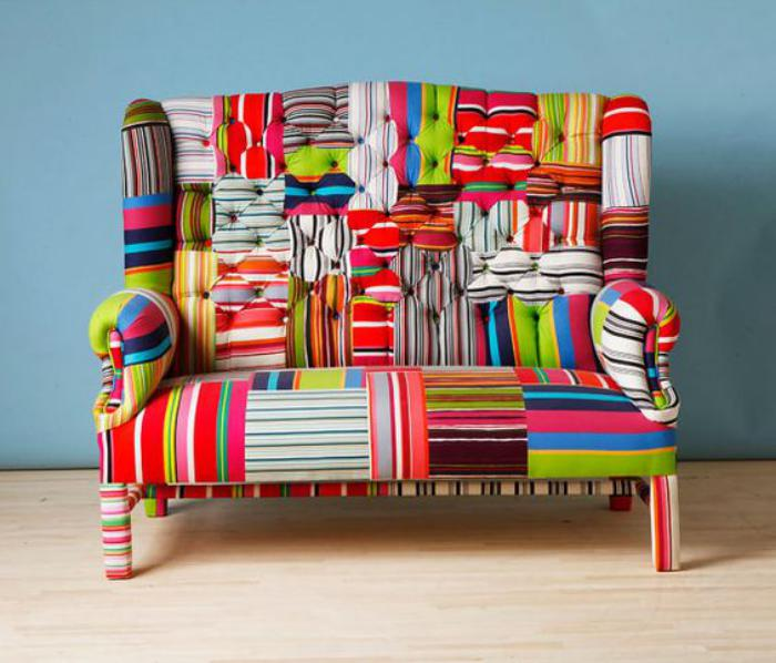 fauteuil-patchwork-sofa-vintage-multicolroe
