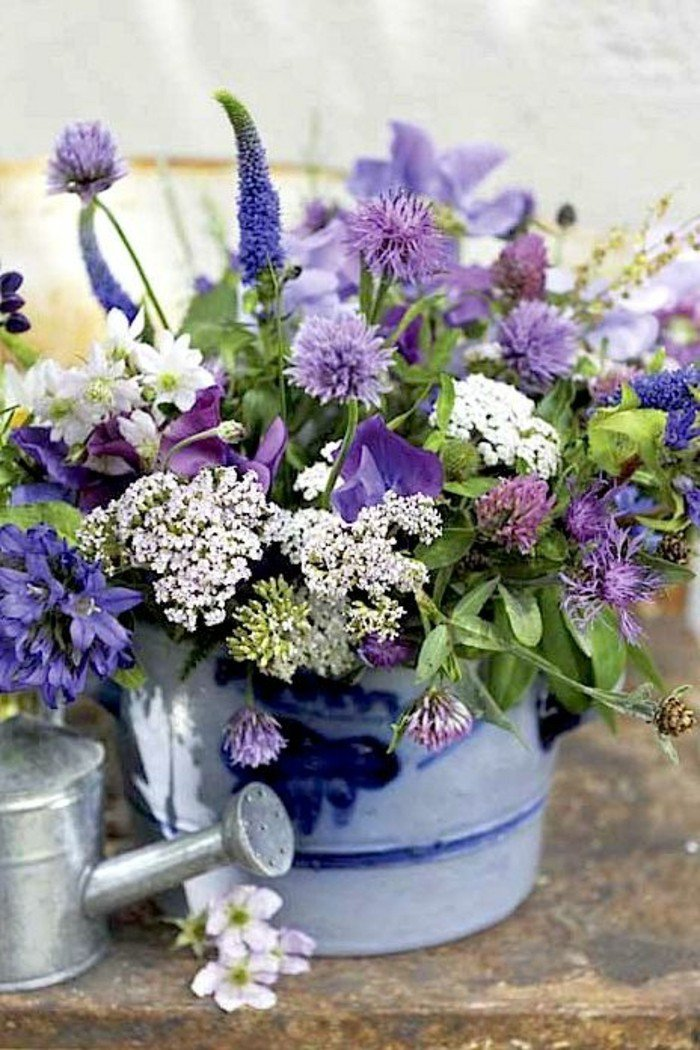 bucket vase bucket of flowers with word of god faith love. Black Bedroom Furniture Sets. Home Design Ideas