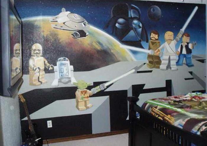 La chambre Star Wars  faire une décoration à l'aide de votre imagination