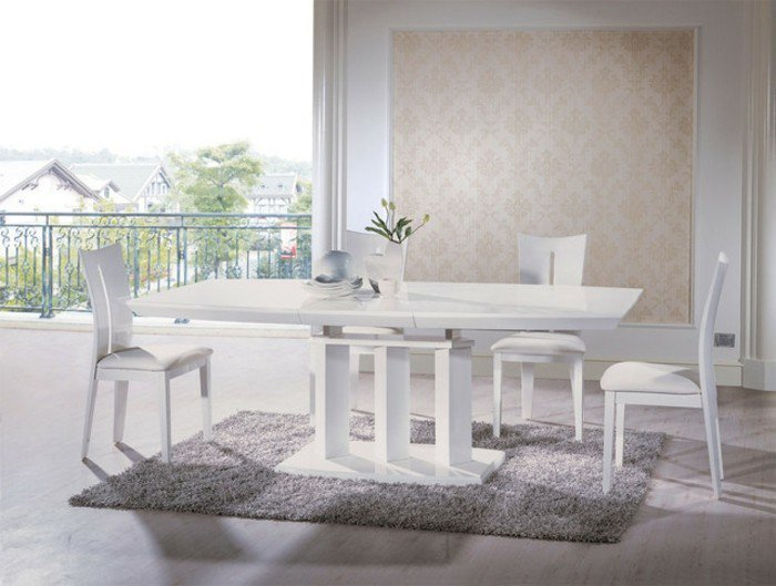 80 id es pour bien choisir la table manger design for Table a manger bois blanc