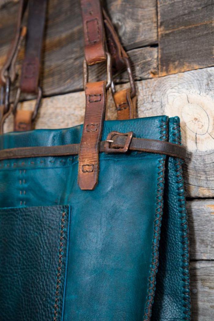 grand-sac-à-main-marron-et-turquoise