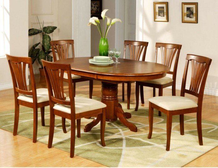 intérieur-table-a-manger-pas-cher-table-de-cuisine-ikea-déco-fleur-au-centre-de-la-table