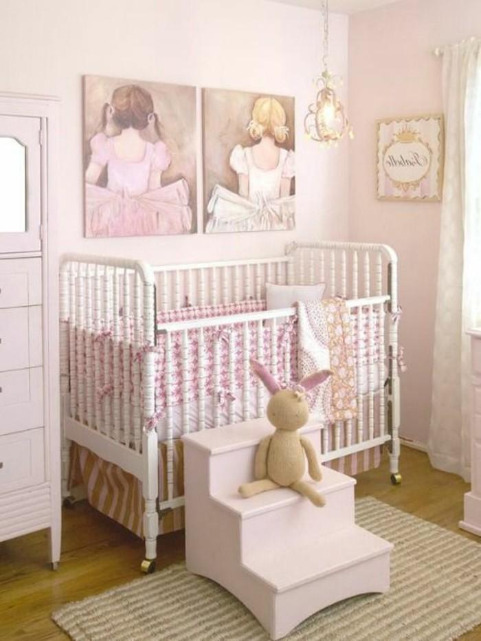 jolie-chambre-béb;e-fille-tour-de-lit-bébé-pas-cher-pour-la-chambre-bebe