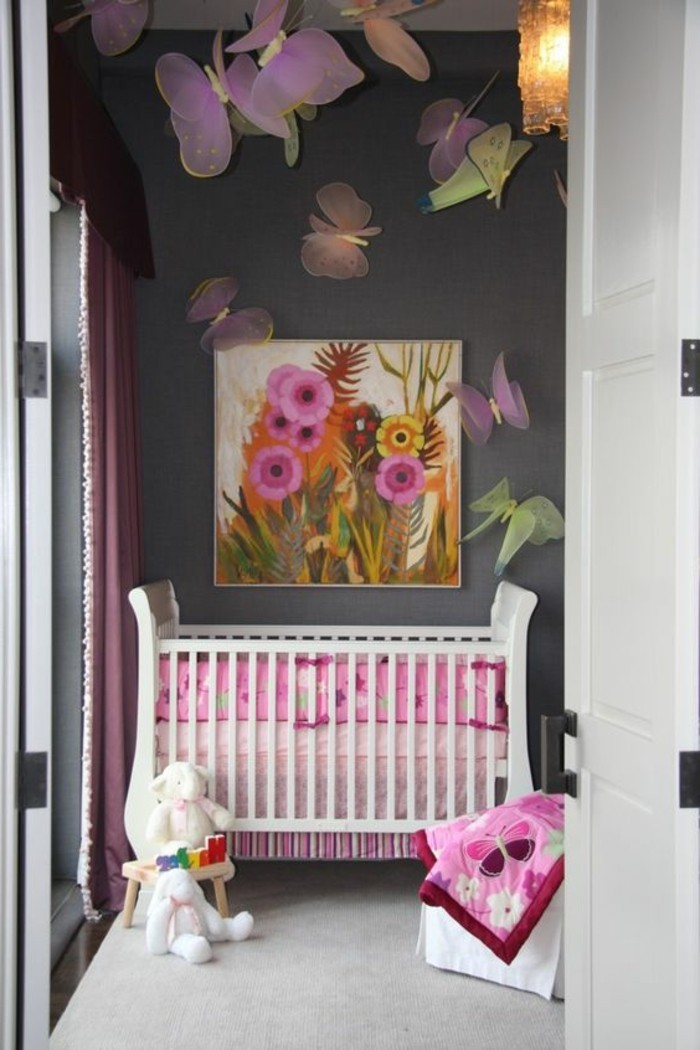 Idee deco chambre bebe fille solutions pour la for Photo decoration chambre bebe fille