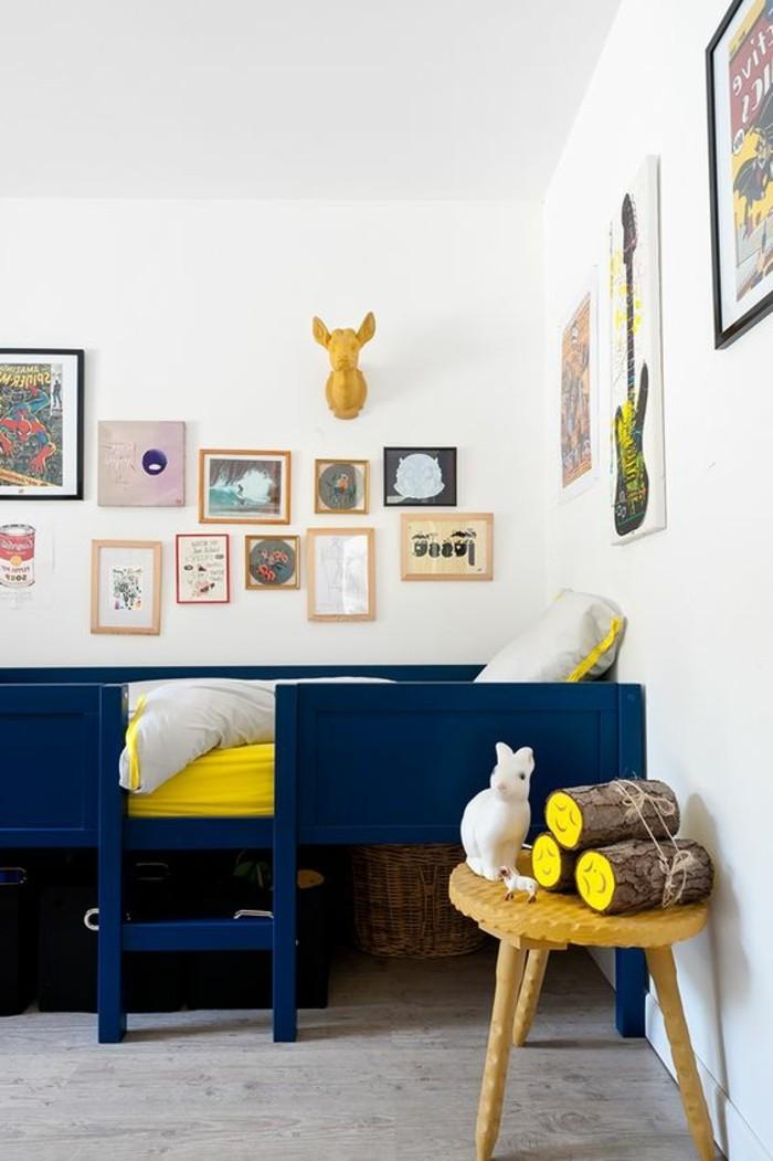80 astuces pour bien marier les couleurs dans une chambre - Chambre d enfant bleu ...