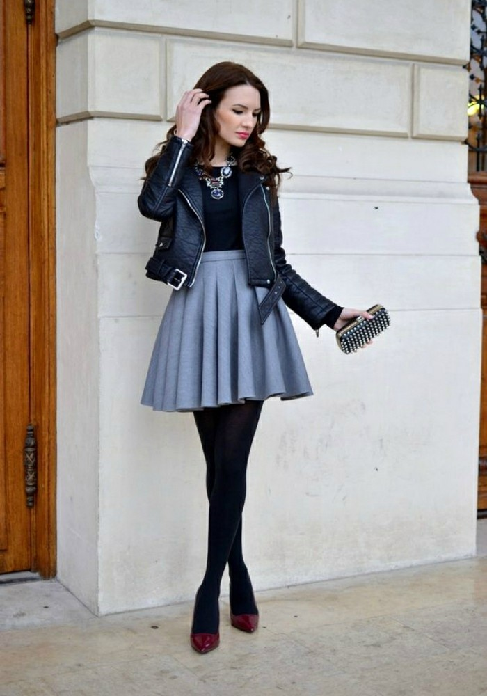 jupe-patineuse-h&m-jupes-patineuse-cuir-cool-idée-à-porter-mode-cool-idee