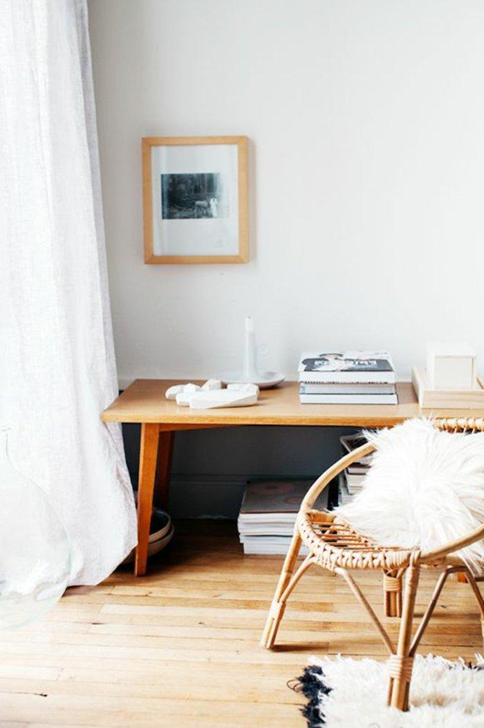 l-intérieur-design-fauteuil-rotin-vintage-cool-idée-aménagement-salon