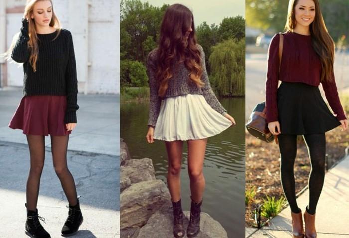 la-jupe-écossaise-jupe-crayon-zara-short-noir-femme-porter-vetement-style-trois-idees