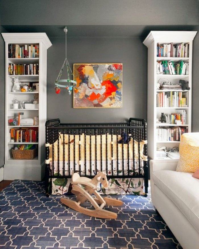 Cuisine Design Bordeaux : chambre bebe grise, tour de lit bebe fille en jaune