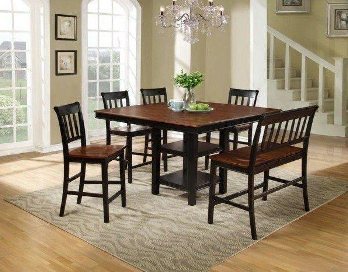 la-table-carrée-ensemble-table-et-chaise-cuisine-et-salle-à-manger-classique-interieur