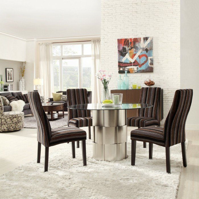 salle a manger ronde maison design. Black Bedroom Furniture Sets. Home Design Ideas
