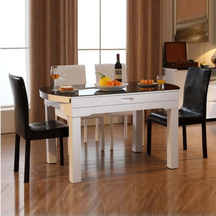 80 id es pour bien choisir la table manger design for Table a manger blanche design