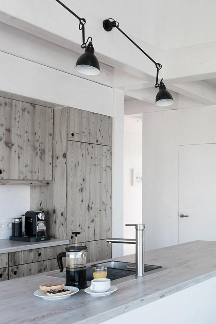 lampes-de-cuisine-noires-lampadaire-castorama-meubles-de-cuisine-en-bois-gris-clair