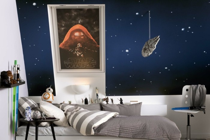 Chambre Ado Star Wars : La chambre star wars faire une décoration à l aide de