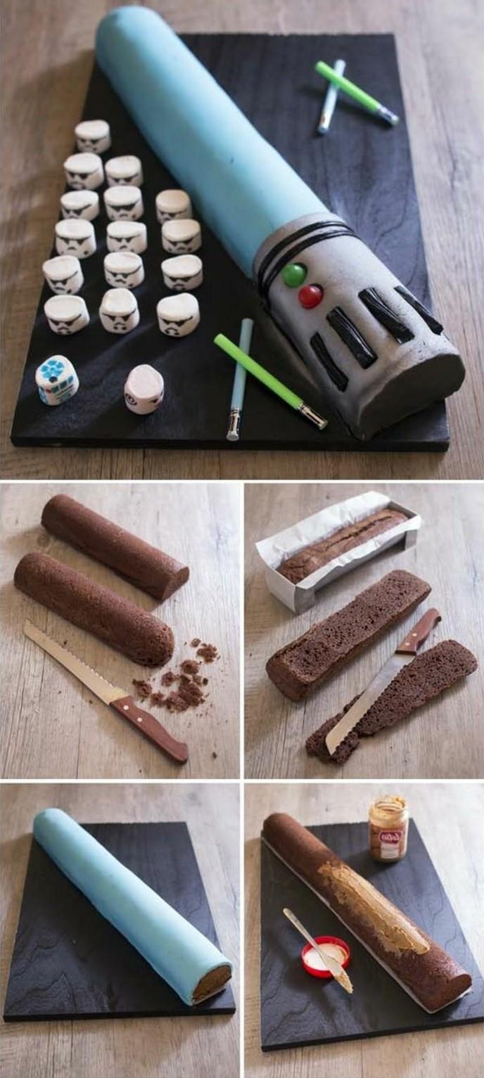 les-images-gâteau-anniversaire-gateau-anniversaire-garcon-cool-bleu-sabre-laser