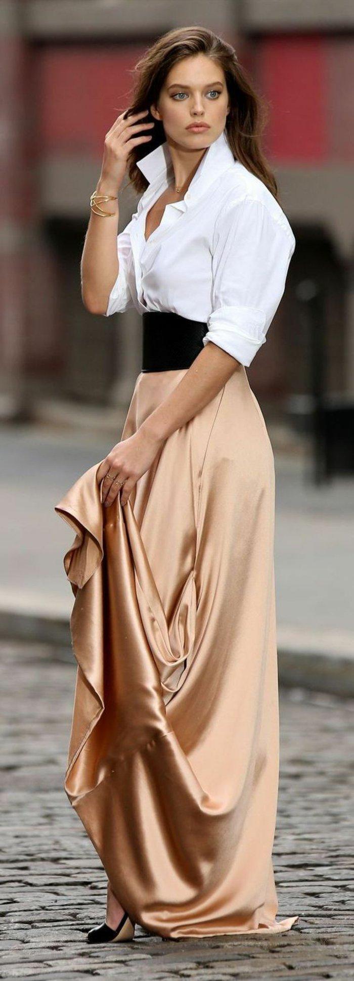 les-plus-cool-chemisiers-femme-chemise-à-carreaux-femme-tenue-de-jour-longue-jupe