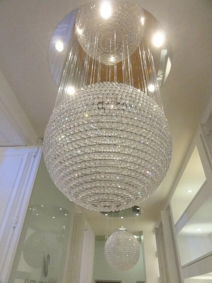 lustre-Swarovski-grande-boule-miroir