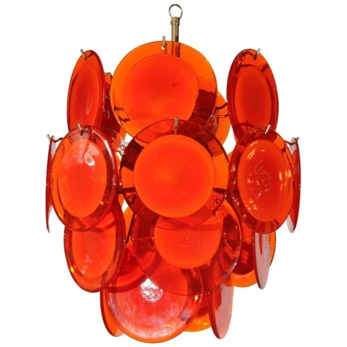 lustre-a-pampilles-ronds-oranges