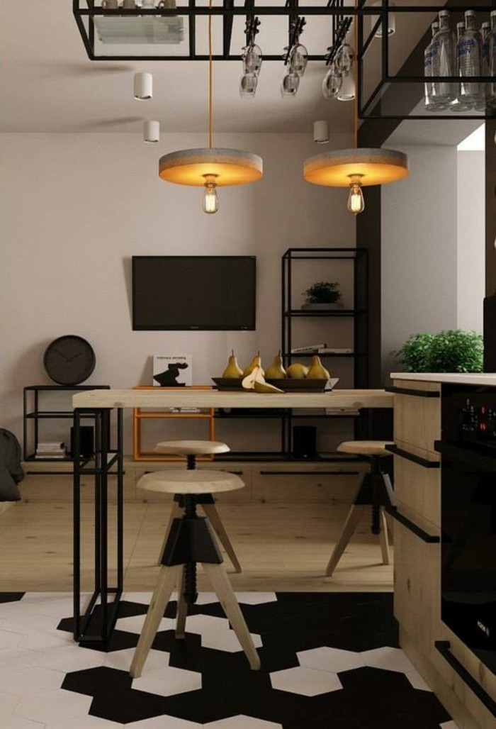luminaire pour cuisine design perfect cuisine ou le salon u un luminaire with luminaire cuisine. Black Bedroom Furniture Sets. Home Design Ideas