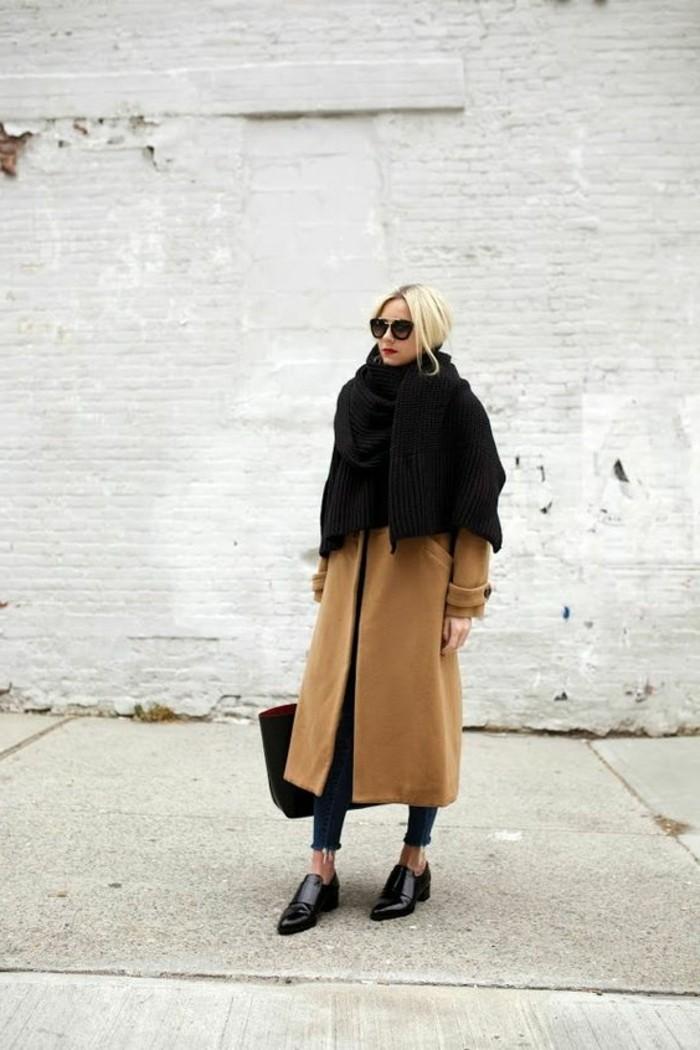 manteau-beige-femme-chaussures-femme-noires-derby-chaussures-femme-pas-cher