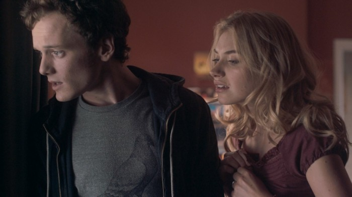 """FRIGHT NIGHT"" FF-007 Charlie Brewster (Anton Yelchin) and his girlfriend Amy (Imogen Poots) find themselves on the run from a vampire in ""Fright Night"", the Craig Gillespie-helmed revamp of the comedy-horror classic. ©DreamWorks II Distribution Co., LLC. ÊAll Rights Reserved."