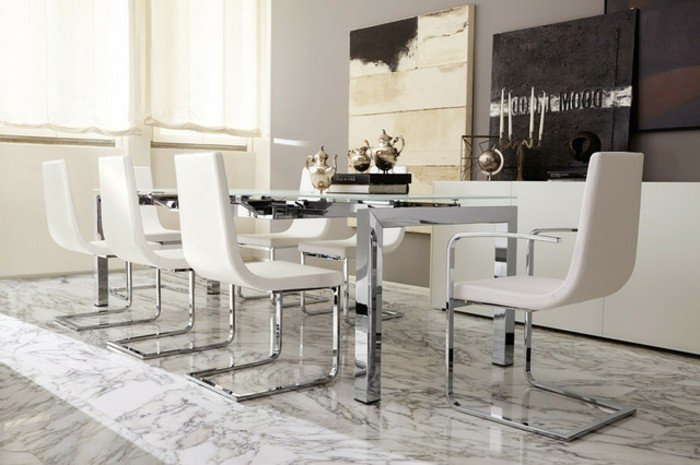 table blanche salle a manger valdiz. Black Bedroom Furniture Sets. Home Design Ideas