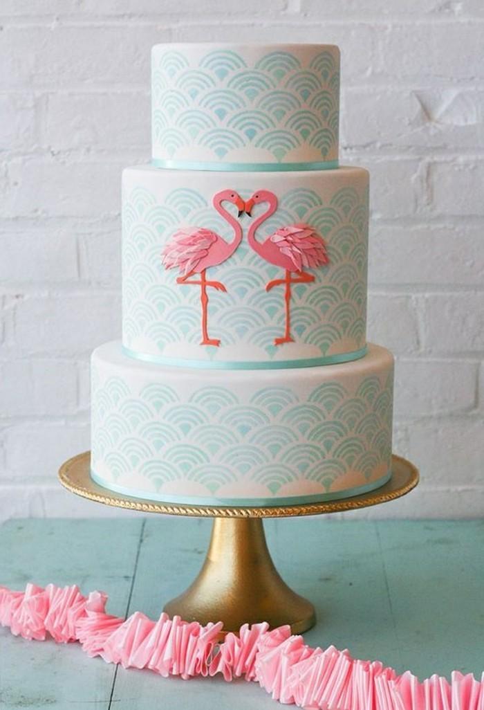 merveulleuse-image-gâteau-anniversaire-gateau-d-anniversaire-adulte-étages-flamingo