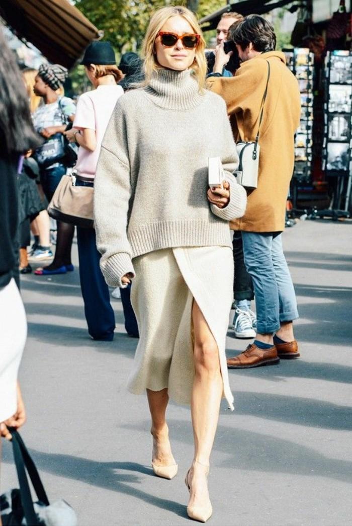 mode-de-la-jupe-mi-longue-tenue-de-jour-trop-cool-en-blanc