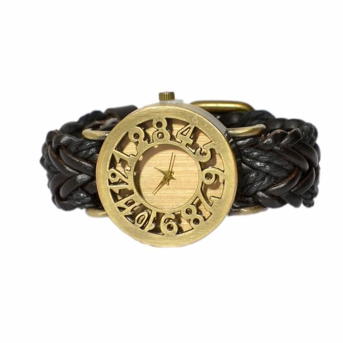 montre-originale-femme-cuir-noir-tresse-resized