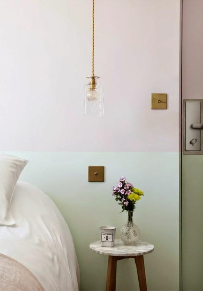 mur-double-couleur-chambre-a-coucher-mur-en-double-couleurs-peindre-une-pièce-en-deux-couleurs