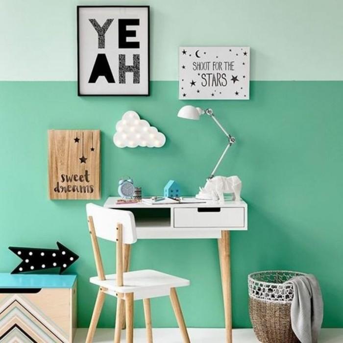 mur-en-vert-et-vert-foncé-les-dernieres-tendances-murs-colorés