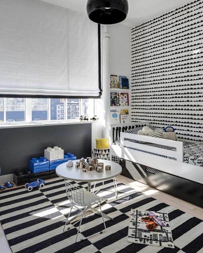 nuancier-peinture-leroy-merlin-chambre-d-enfant-tapis-blanc-noir-aux-rayures-murs-blancs