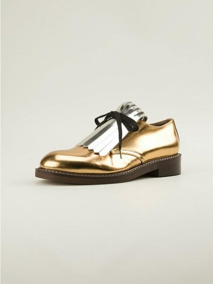 oxford-chaussures-femme-moderne-derbies-femme-pas-cher-doré-modèle-chic