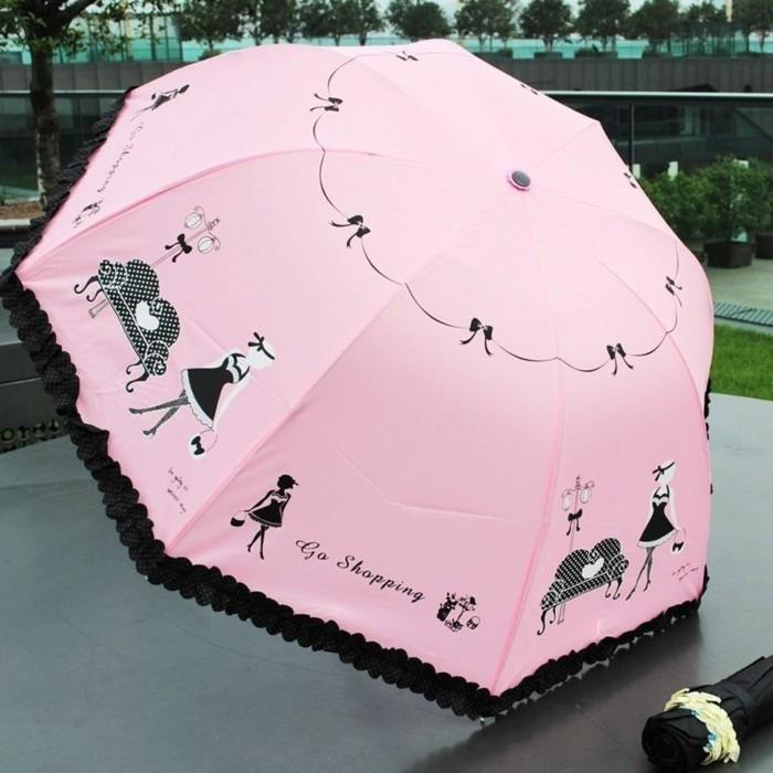 parapluie-solide-rose-et-noir-resized