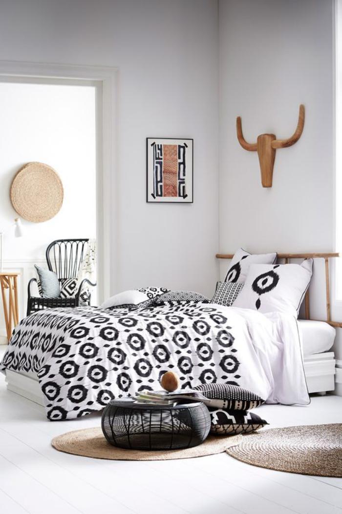 parures-de-lit-originales-chambre-à-coucher-moderne-minimaliste