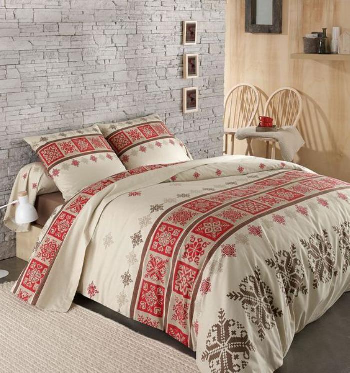 Parures de lit originales d coration facile pour la for Housse de couette chalet
