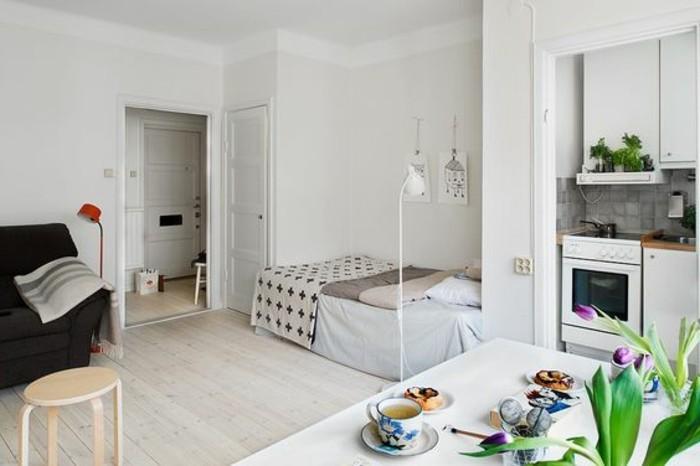 petit-studio-bien-aménager-sol-en-parquet-meubles-petit-espace-aménagement-petit-salon