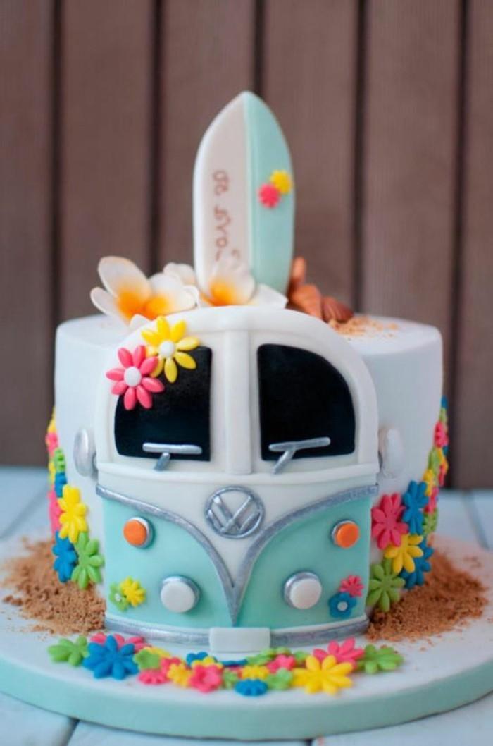photo-surf-et-folkswagen-recette-gateau-anniversaire-gateau-anniversaire-original-idée-personnalisée