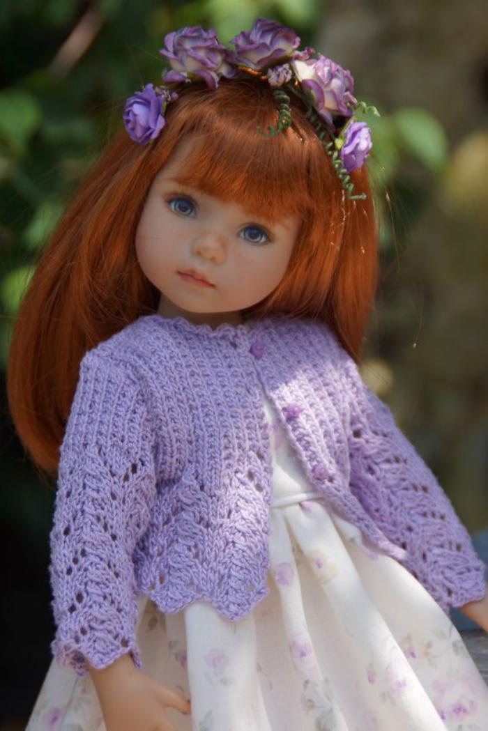 poupée-réaliste-cheveux-roux-jolie-princesse-artistique