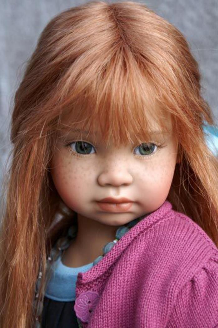 poupée-réaliste-poupée-artistique-cheveux-roux