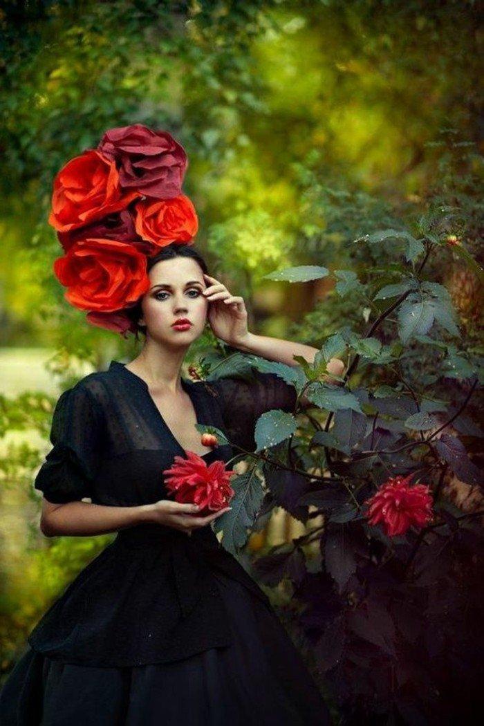 professionelles-photo-rouge-vermillon-chapeau-élégante-une-idee-à-representer
