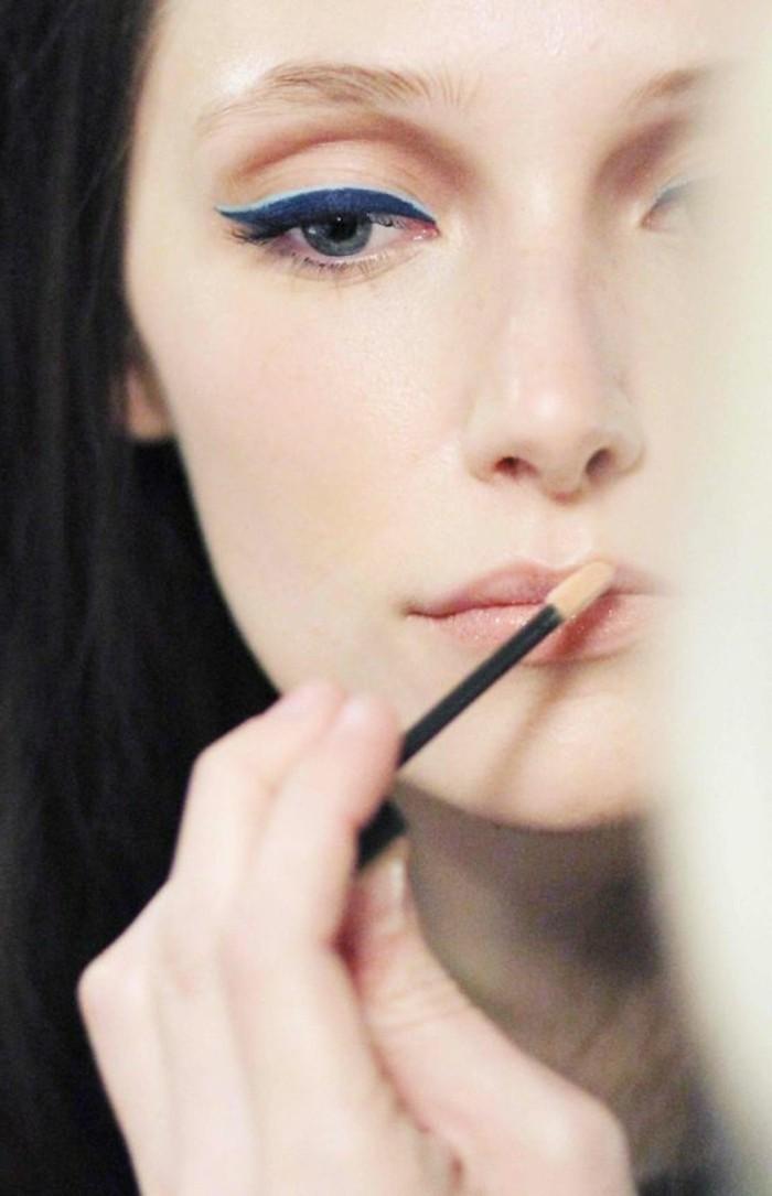 quel-maquillage-pour-agrandir-les-yeux-levres-rouses-magnifique-maquillage-pour-yeux