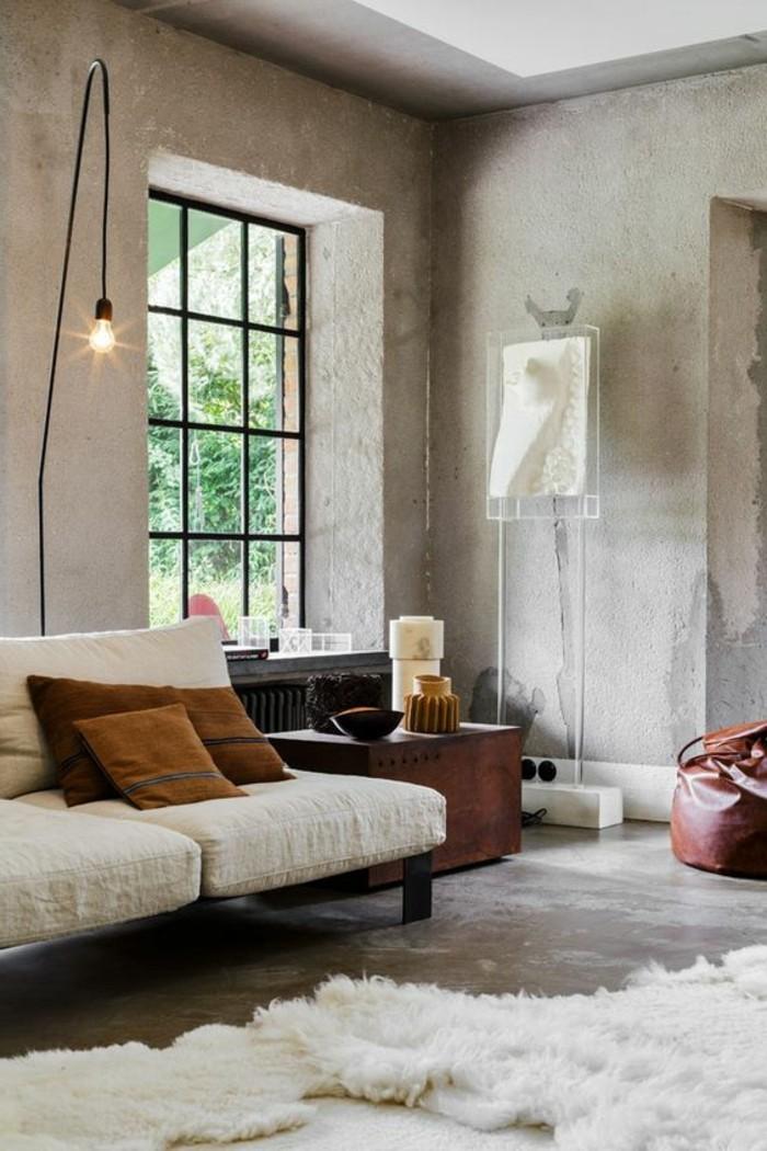 quelle-couleur-pour-un-salon-interieur-en-beton-ciré-meubles-de-salon-chic