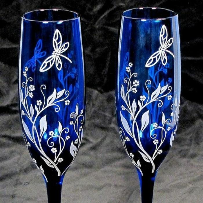 ravissante-flute-a-champagne-pas-cher-flûte-à-champagne-personnalisé-en-bleu