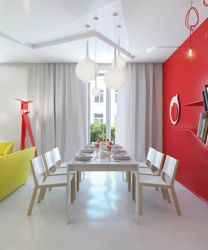 red-white-dining-room