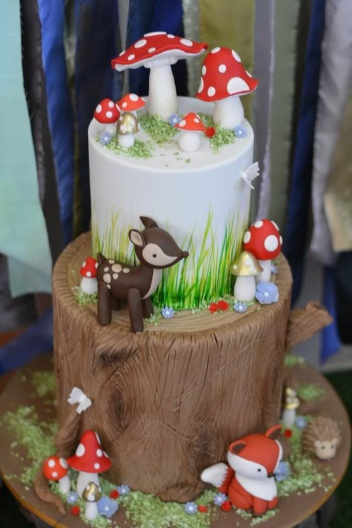 reel-photo-anniversaire-images-gâteau-d-anniversaire-gateaux-anniversaire-fille-fox-foret