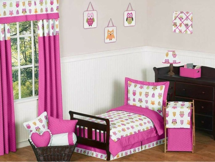 rideau chambre bebe rose avec des id es int ressantes pour la conception de la. Black Bedroom Furniture Sets. Home Design Ideas
